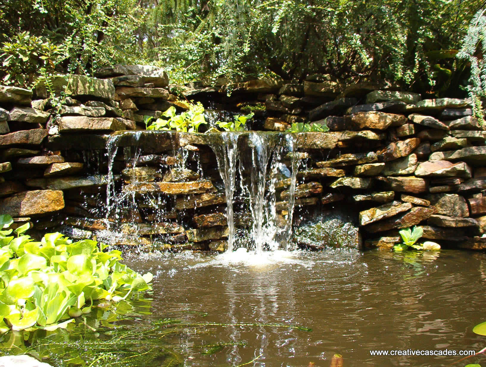 Sales design installation and repair of water fountains for Ponds and waterfalls